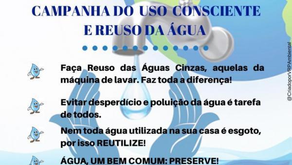 CAMPANHA DO USO CONSCIENTE E REUSO DA ÁGUA
