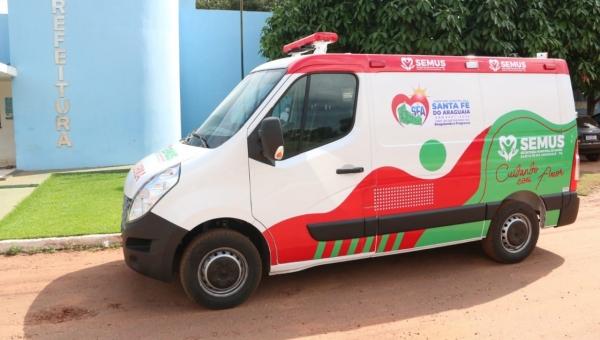 A Secretaria Municipal de Saúde de Santa Fé do Araguaia Adquire nova ambulância para prestar os serviços de saúde do municipio.