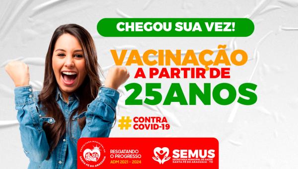 Vacinação liberada para público jovem